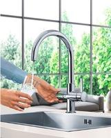 【GROHE 31 398 00J】炭酸冷水機シングルレバーキッチン混合栓<グローエフブルー浄水機付>