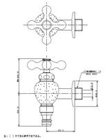 【KAKUDAI 723-800-13】ガーデン水栓
