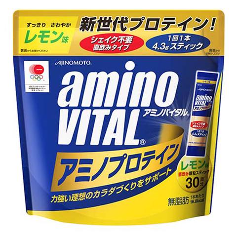アミノバイタル プロテイン 【レモン味】 30本入パウチ