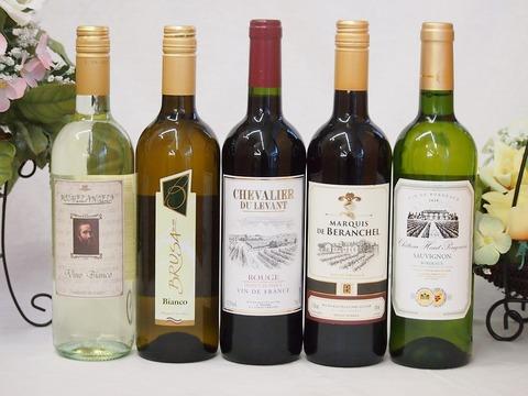 金賞受賞酒の入ったセレクションワイン5本セット(赤2本、白3本)750ml×5本