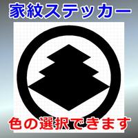 丸に三階菱紋