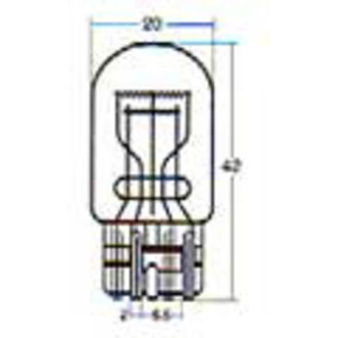 W4800 スタンレー電気 STANLEY 12V21/5W T20 W3×16q 耐振電球 10個入り