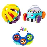 【SALE!】Sassyサッシー/知育玩具3点セットC(ボール・サウンドトイ・くるまのおもちゃ)