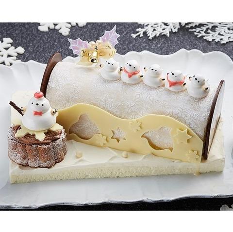 クリスマスケーキ<‐クール・ダンジュ 天使の合唱団 シマエナガのブッシュ・ド・ノエル>限定30台 ※お渡し日 12月23日(木)~25日(土) ※ケーキのみの配達は行っておりません。