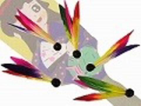 羽子板の羽根 3枚羽(10個入り)