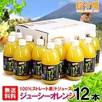 段々畑100% ジューシーオレンジ ジュース 12本入り