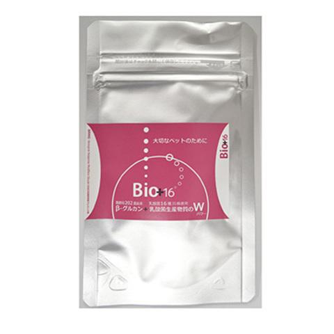 ペット用サプリメントBio+16 (ビオ プラス ジュウロク)黒酵母202菌由来β-1,3-1,6グルカンと乳酸菌生産物質のWパワー 内容量:260mg×20カプセル