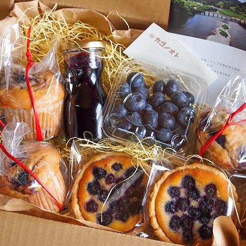 旬素材のお菓子BOX ブルーベリー