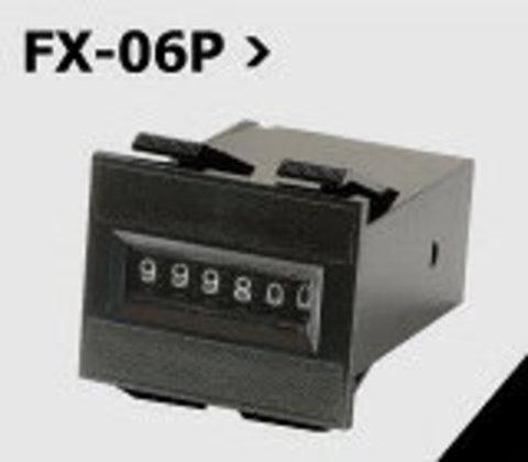 ノンリセット 6桁 電磁カウンター FX-06P DC12V