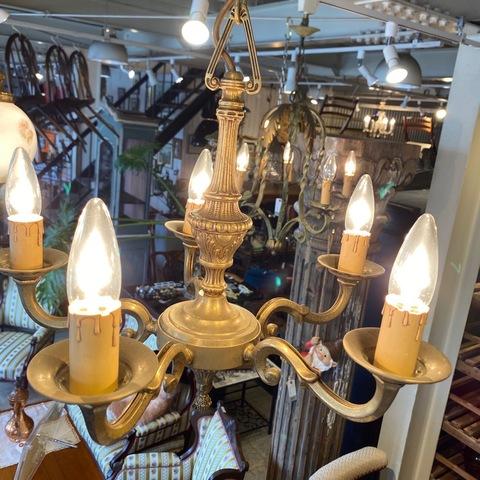 イギリス アンティーク 5灯シャンデリア