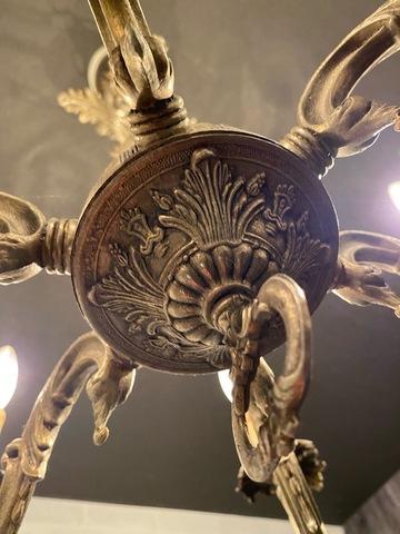 フランス アンティーク 6灯シャンデリア