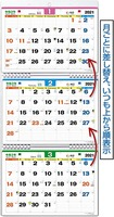 エコエコ3ヶ月カレンダー 2021年版 1set パック