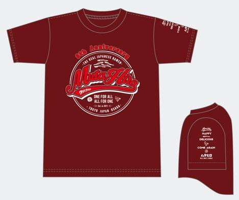9周年記念オリジナルTシャツ バーガンディ L
