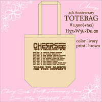 【CHERRSEE】★【4th Anniversary】TOTEBAG