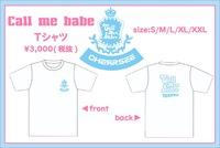 【CHERRSEE】★【Call me babe】Tシャツ