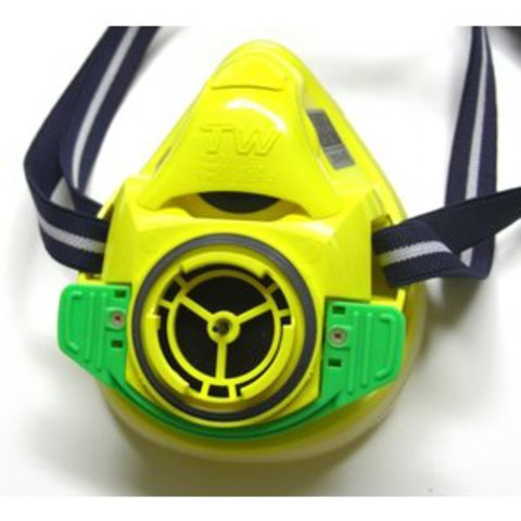 重松製作所 取替え式防塵マスク・直結式小型防毒マスク TW01SC YE Mサイズ面体のみ 11973