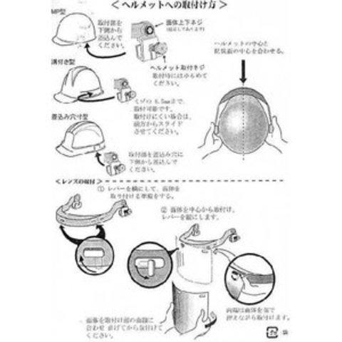 理研オプテック 網面 ヘルメット取付タイプ FSH-701