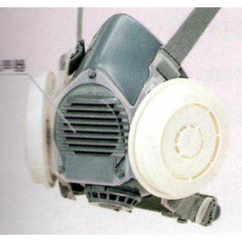 シゲマツ 防じんマスク DR80SL4N(L4Nフィルター付き)Mサイズ・放射性粉じん作業に