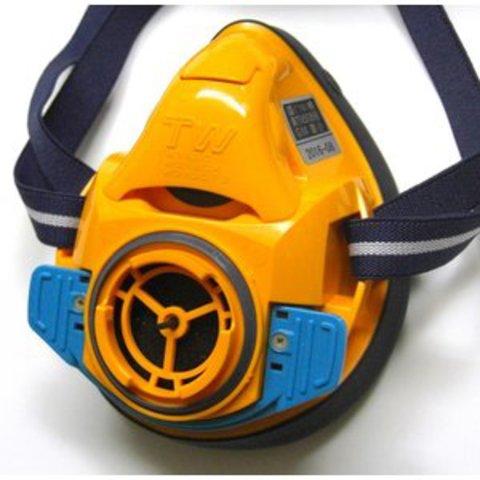 シゲマツ 取替え式防塵マスク・直結式小型防毒マスク TW01SC/HB(M)OR 蜜柑色 Mサイズ 面体のみ