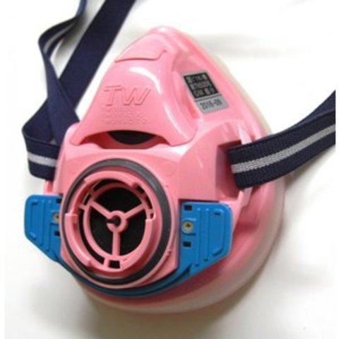 シゲマツ 取替え式防塵マスク・直結式小型防毒マスク TW01SC/HB(M)PI 撫子色 Mサイズ 面体のみ