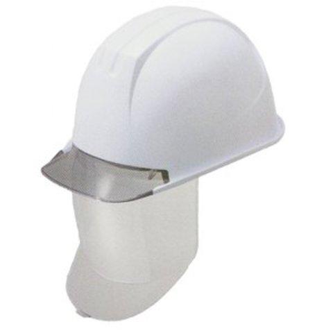 タニザワ工事用ヘルメット(保護帽・安全帽)シールド付メットST#162V-SD(EPA)透明ひさし・ライナー入り(送料半額)