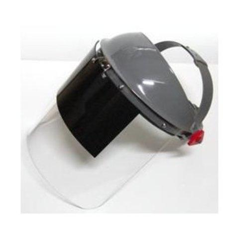 理研オプテック 溶接面かぶり(作業帽)タイプ F-62W G10/透明