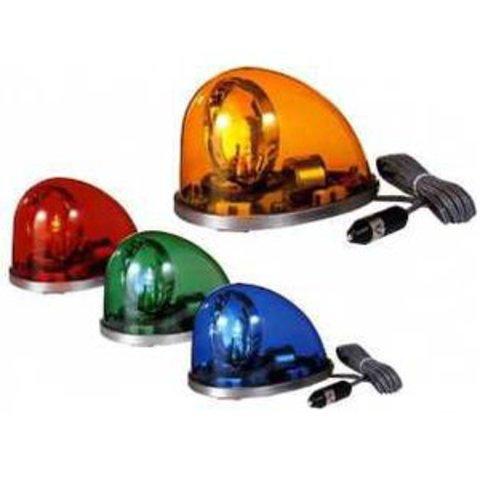 回転灯パトライト、HKFM-101型、車両用流線型回転灯(ハロゲン電球)赤・青