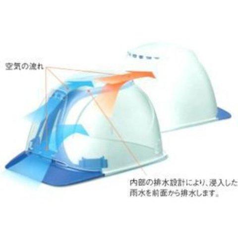 タニザワ工事用ヘルメット飛翔ST1830-FZ-V5-W1(