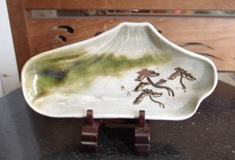 陶器 変形皿 (富士山型)