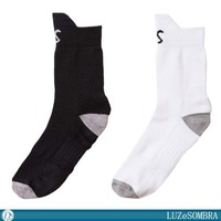 [LUZeSOMBRA/ルースイソンブラ] SUPPORT ROUND SHORT SOX [F2014910]