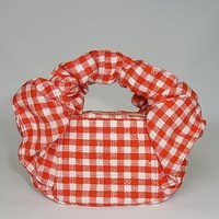 CHOUCHOU POUCH red check