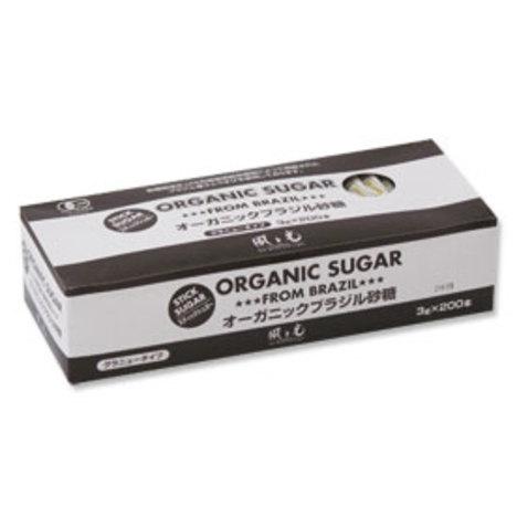 オーガニックブラジル砂糖(スティックシュガー)3g×200本