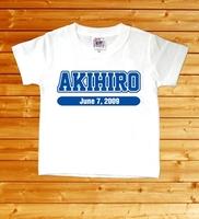 【チームロゴ 名前入りベビーTシャツ】(半袖・ホワイト)