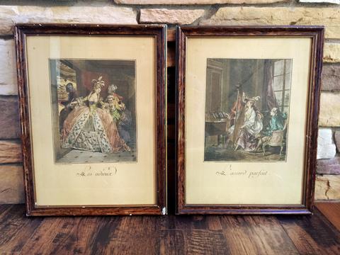 Framed Print (Les adieux) - 額入りプリント(ジャン・ミッシェル・モロー作「告別」) -