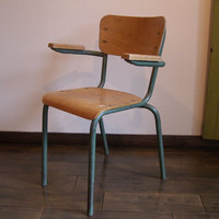 French School Chair with arm - スクールアームチェアー(フランス) -