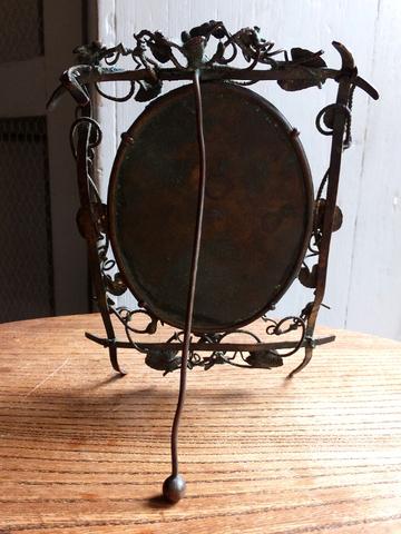 Small Bronze Stand Mirror - 青銅製スタンド式ミラー(鏡) -