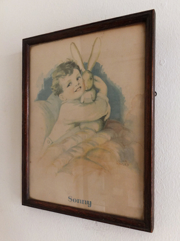 Framed Child Print - 子供のプリント入り木製額 -