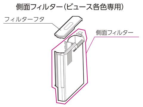 側面フィルター(ビュース各色専用)